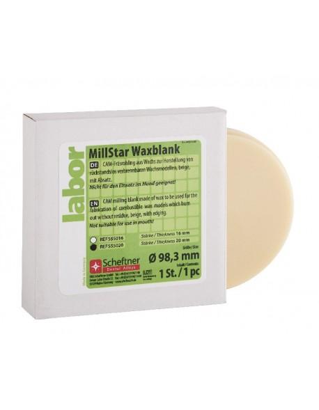 MillStar Waxblank  20 mm