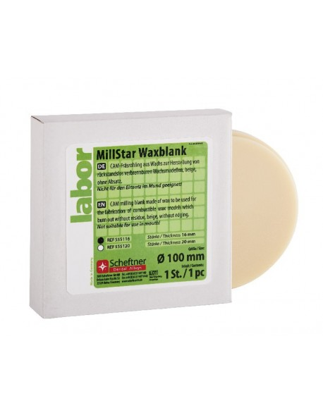 MillStar Waxblank 16 mm
