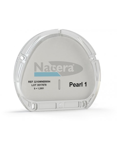Nacera® Pearl 1 (highly translucent) white  14 mm